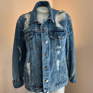 Jackets & Blazers - Studded Denim Jacket